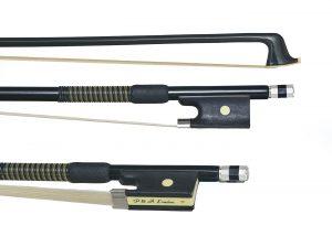 Black violin bow