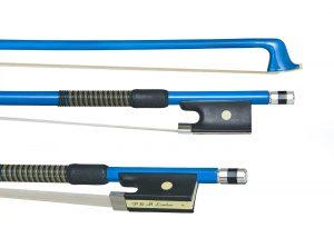 Blue violin bow