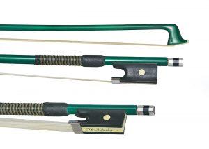 Green violin bow